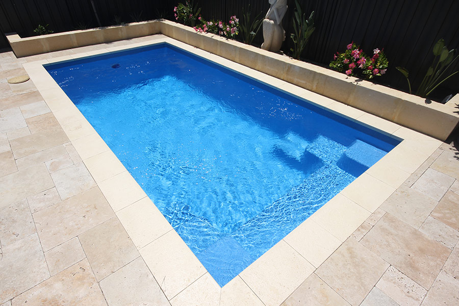 Allure fibreglass swimming pools 5m x evolution pools for Garten pool 2 5m